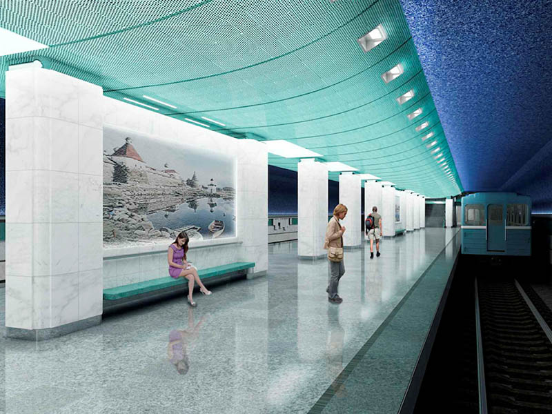 Станцию метро «Беломорская» откроют в следующем году